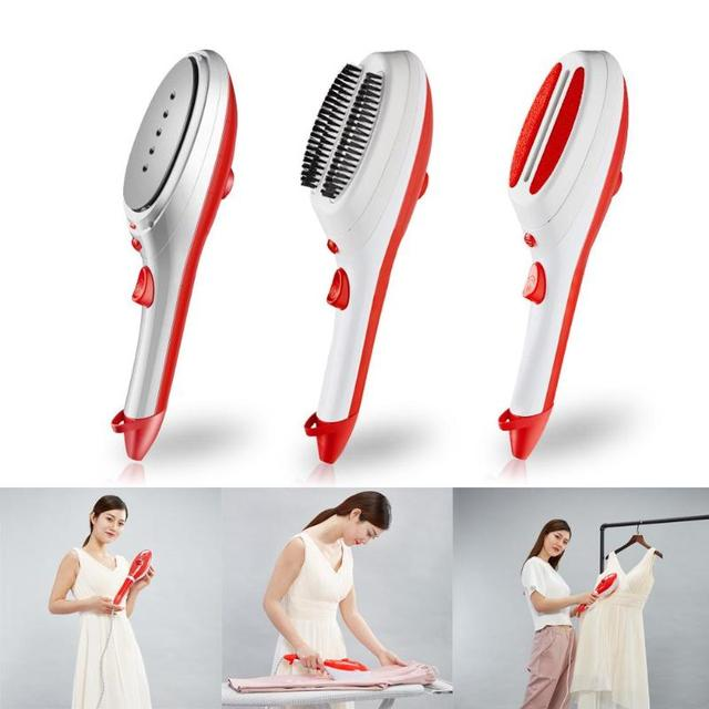 Handheld Garment Steamer Brush Portable Steam Iron For Clothes Ironing Steamer Underwear Brushes 3 Heads Household Cleaning Tool
