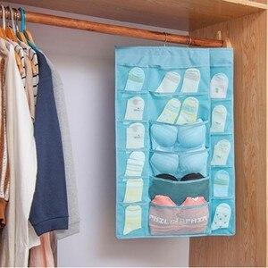 Image 4 - متعدد الطبقات متعدد الألوان على الوجهين حقيبة التخزين نوم النوم الجوارب ، قفازات الحائط تخزين الملابس الداخلية المنظم