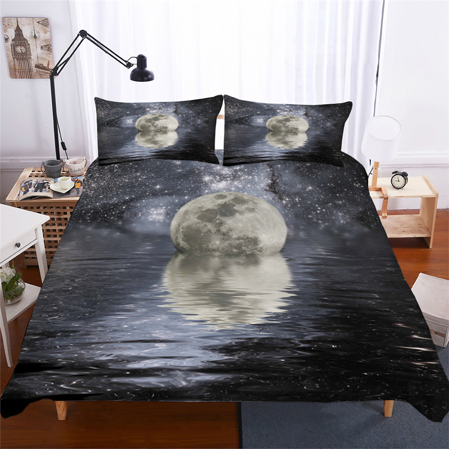 Bedding Set 3D Printed Duvet Cover Bed Set Sea Wave Home Textiles For Adults Lifelike Bedclothes With Pillowcase HL03