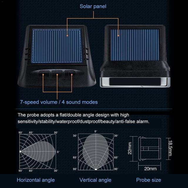 Solar Power Wireless LCD Car Parking Sensor Kit