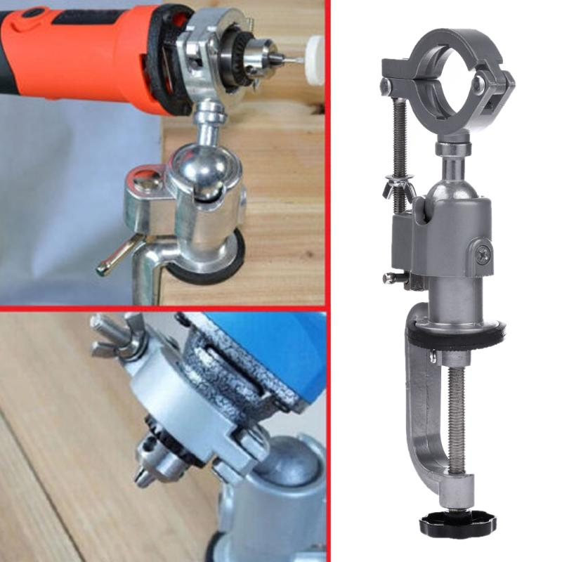360 Degree Grinder Accessory Electric Drill Stand Holder Bracket Multifunctional Drills Rack Bracket For Dremel Power Tools