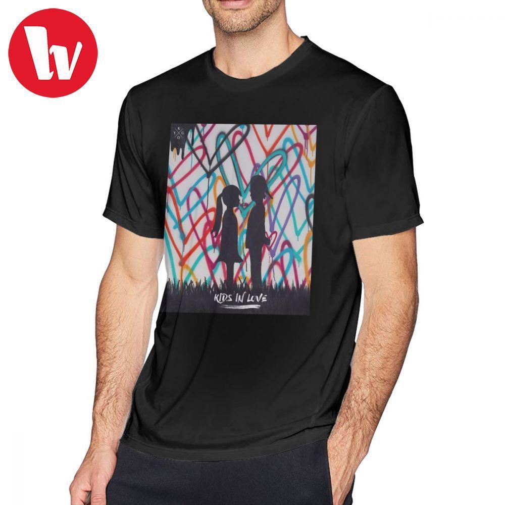 Kygo T Shirt Kygo Kids In Love Tour 2018 T-Shirt Mens 100 Percent Cotton Tee Shirt Short-Sleeve Graphic Fun Plus Size  Tshirt
