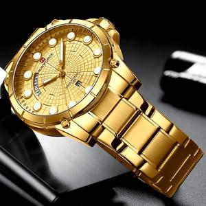 Image 4 - Nouvelle montre professionnelle créative NAVIFORCE pour hommes Sport militaire montre bracelet à Quartz étanche montre bracelet pour hommes montres Relogio Masculino