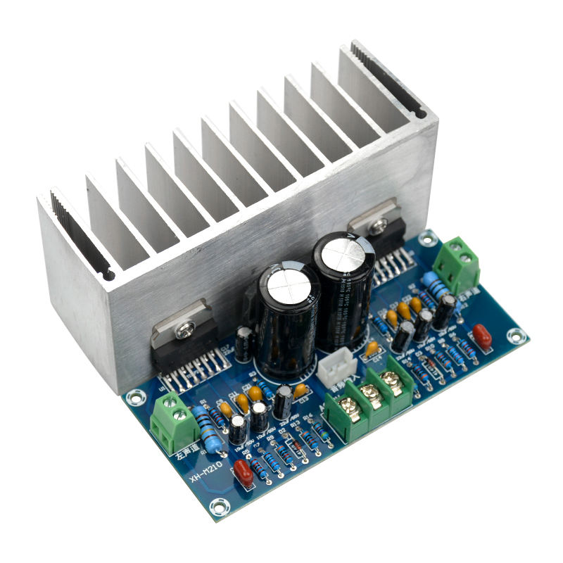 Image 1 - TDA7293 Audio Amplifier Board 100Wx2 Digital Stereo Power Amplifier Board With Heatsink Dual AC12 32V-in Amplifier from Consumer Electronics