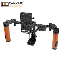 """CAMVATE Camera Director Monitor Cage Rig z uchwytami i wyściełaną smycz na szyje na 5 """"i 7"""" monitory LCD (ATOMOS NINJA INFERNO)"""