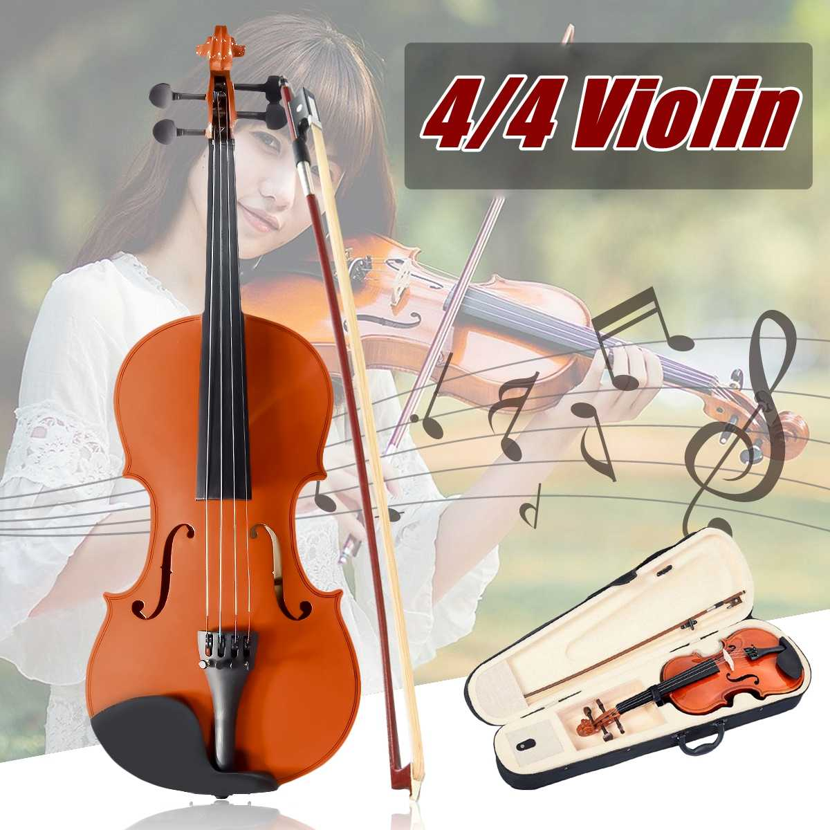 Violin Parts & Accessories 4/4 Violin Blank Maple With Ebony Fingerboard Unfinished Violin For 4/4 Diy Violin Accessories