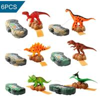 Dinosaur Shape Small Water Gun Toys Wrist Type Children Mini Sprayer Toy Fun Toy Plastic Children's Mini Spray Gun Gift 6pcs