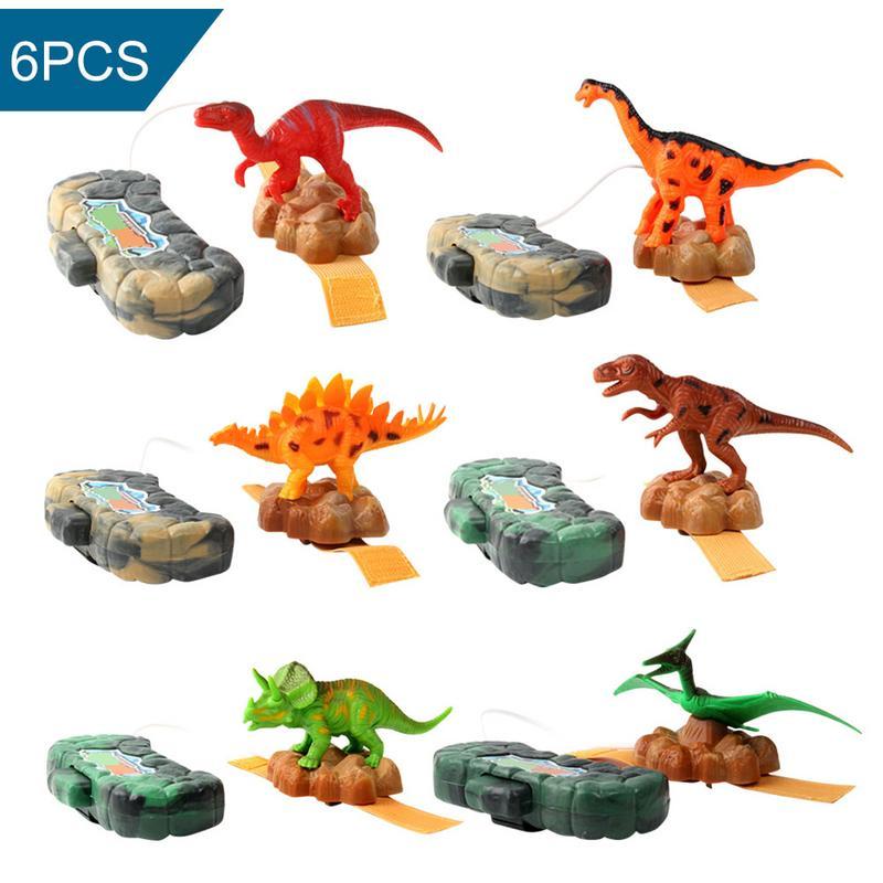 Dinosaure forme petit pistolet à eau jouets Type de poignet enfants Mini pulvérisateur jouet amusant jouet en plastique enfants Mini pistolet cadeau 6 pièces