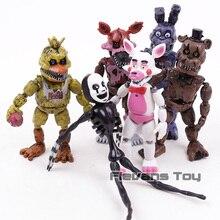 С рисунком персонажей из игры «пять ночей в Фредди» «Five Nights at Freddy's», «пять ночей игре Five Nights at Freddy's Бонни и Чика Funtime Фокси» из мультфильма для мальчика, ПВХ Фигурки игрушки 6 шт./компл