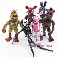 FNAF cinco noches en Freddy pesadilla Freddy chica Bonnie Funtime Foxy de acción | PVC figuras de acción juguetes 6 unids/set