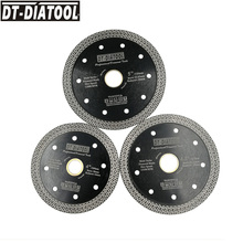 DT-DIATOOL 2pcs 4  4.5 or 5 Hot pressed sintered Mesh Turbo Wheel Diamond Saw blade Dry Wet Cutting Disc 105MM 115mm 125mm