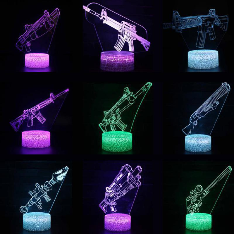 Skins New 3D LED Lamp 7 Colors Touch Switch Table Desk Light Lava Lamp Acrylic Illusion Room Lighting Game Gifts Drop Shipping