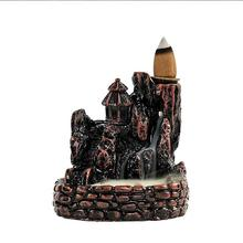 Resin Backflow Incense Burner Lofty Mountains And Flow-Water Smoke Waterfall Sticks Holder Home Decor Handmade Censer