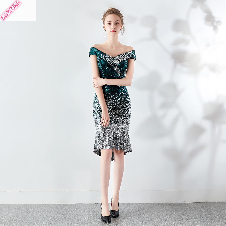 Zanzea Lanon Sheath Fashion 2019 Polyester Ukraine Dress Women New Pearl Sexy Night Show Dresses Evening Banquet Host Fishtail