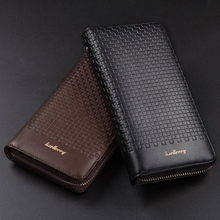 Mens Wallet Business Casual Long Zipper Clutch Bag Large Capacity