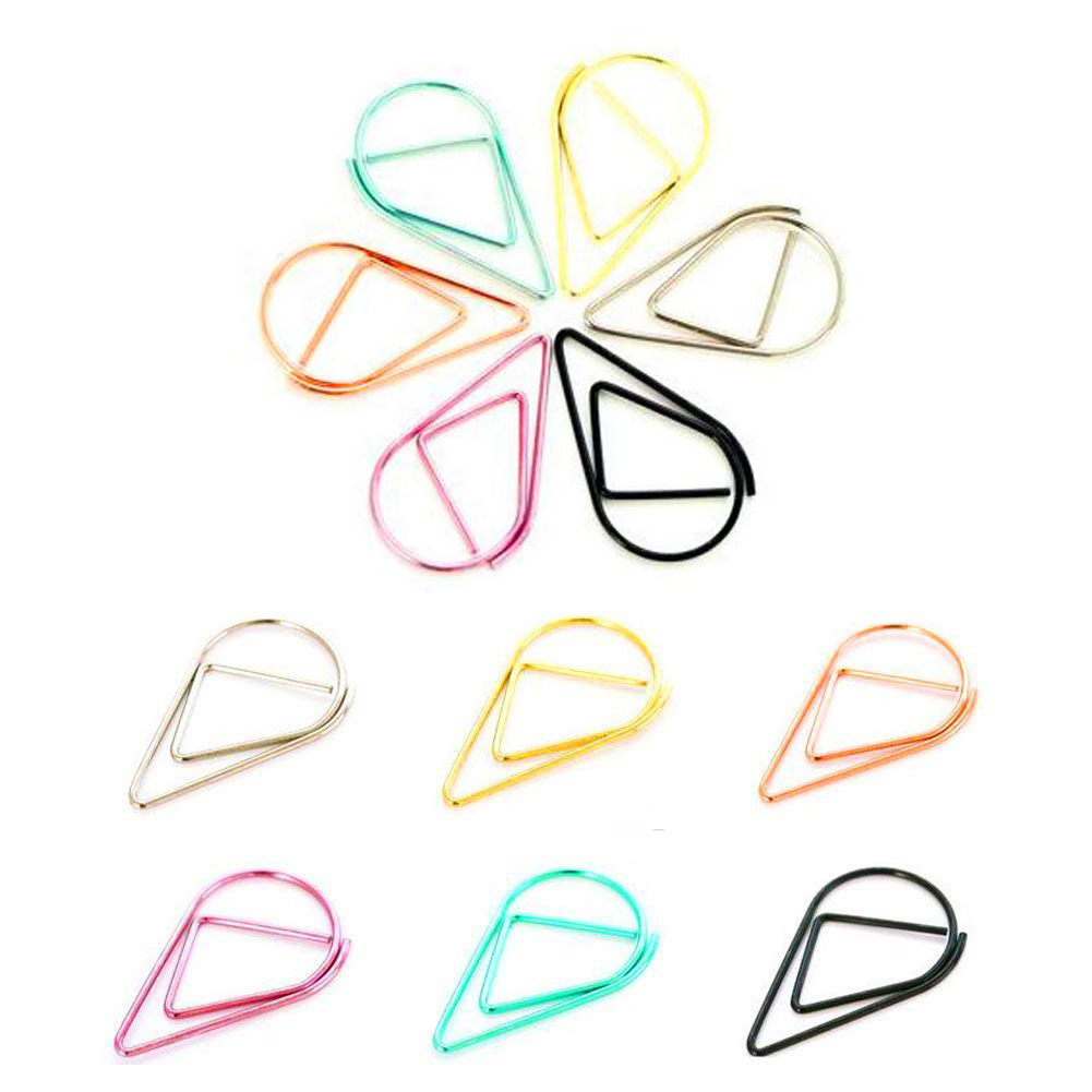 File Folder Supply Decorative Binder Clips Foldback Clip Document Binder Clips Artistic New Shape 100 X Paper Clip 2.5cm To Clear Out Annoyance And Quench Thirst