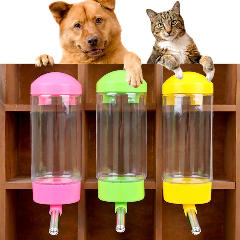 06d36f9bcf48 Dog Water Bottle Automatic Leak-proof Convenient Hanging Dispenser Feeder  Pet Guinea Pig Squirrel Rabbit Drinking Bowl