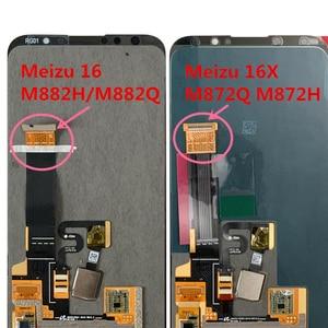 Image 4 - Оригинальный ЖК экран M & Sen 6,0 дюйма для Meizu 16 16th M882Q Super AMOLED + дигитайзер сенсорной панели в сборе для Meizu 16 M882H