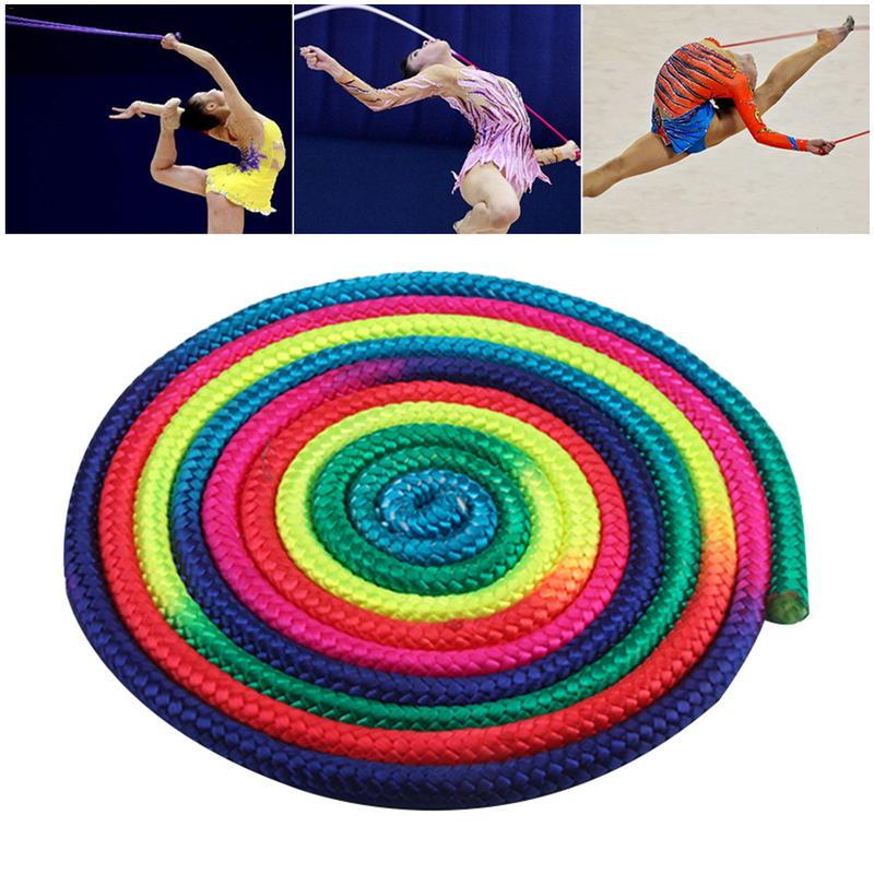 New Colorful Gymnastics Rope Aerobics Skipping Rope Gradient Rhythmic Gymnastics Arts Jumping Rope For Sports Training Exercise