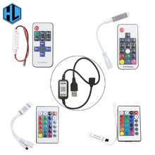 11/17/24/44 key infrared remote control USB controller Bluetooth connection DC5-24V for bedroom computer RGB light strip connect