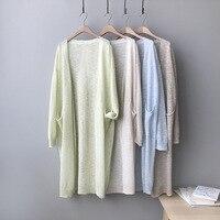 Summer 2019 Women Casual Knitted Cardigan Sunscreen Clothes Thin Loose Korean Cardigan Knitting Slim Yellow Grey Knitwear
