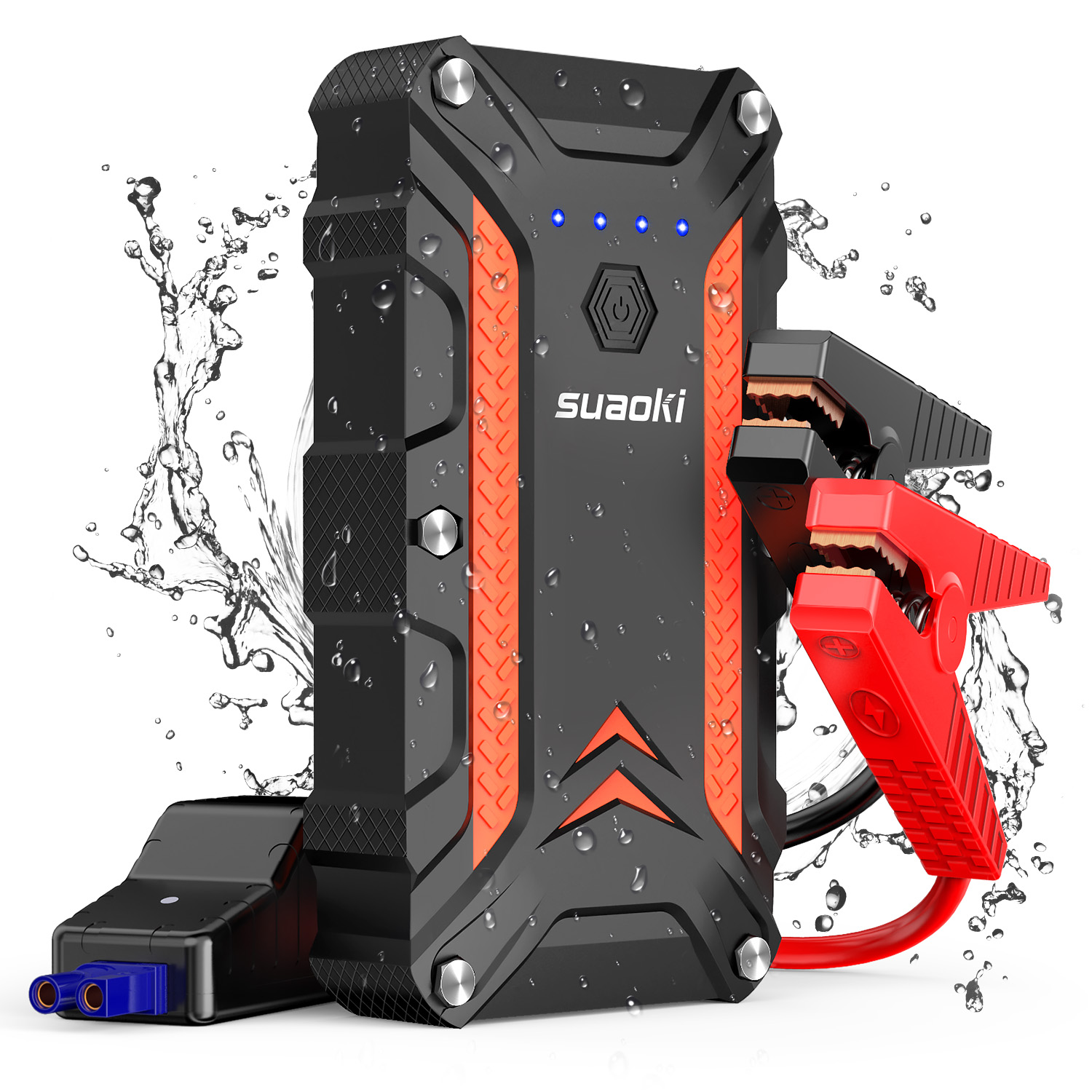SUAOKI CJS02 1000A Peak Car Jump Starter 7.0L Gas 5.0L Diesel Engine Auto Battery Booster QC3.0 Power Bank with Type C LED light