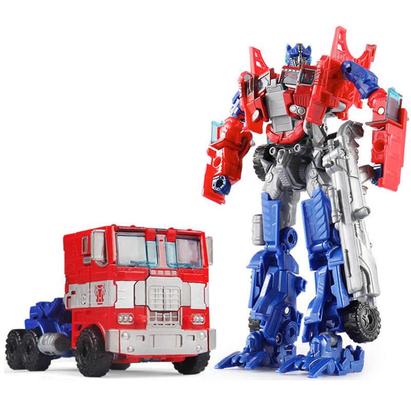 19 centímetros Decepticons Megatron Bumblebee Optimus Prime Transformação Robot Brinquedos Do Carro Jazz Coleção Action Figure Presente Para As Crianças