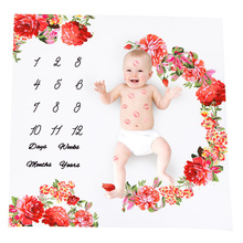 drop ship Newborn Baby Monthly Growth Milestone Bla