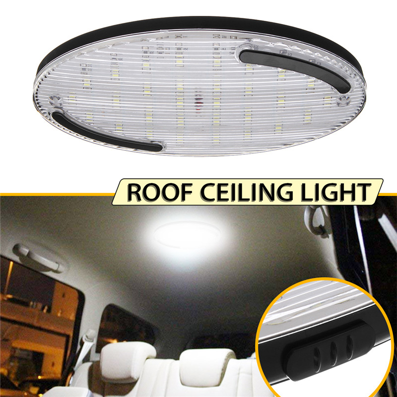 Car RV Roof Dome Light With Switch White Lamp LED Ceiling Lighting 12V Universal