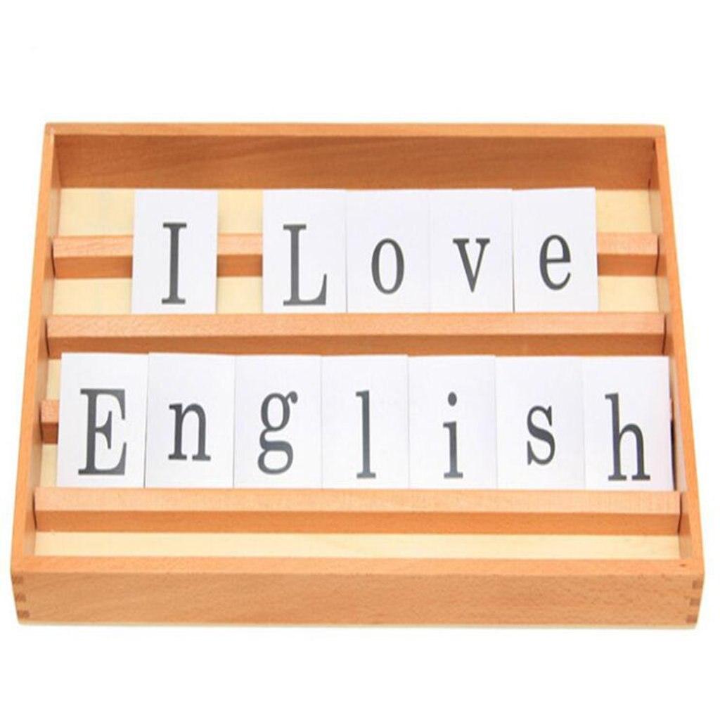 Montessori matériel d'enseignement en bois langue d'apprentissage boîte 26 lettres jouets éducatifs cadeau d'anniversaire pour enfants en bas âge enfants