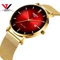 NIBOSI Топ люксовый бренд 2019 часы мужские унисекс часы женские водонепроницаемые простой стиль сетка нержавеющая сталь Relogio Masculino