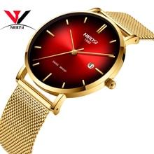 NIBOSI Top Luxury Brand 2019 Watch Men Unisex Watches Women Waterproof Simple Style Mesh Stainless Steel Relogio Masculino
