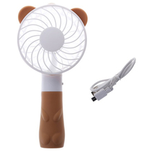 цены Handheld Portable Fan Usb Charging Mini Fan Cute Cartoon Bear Charging Fan Outdoor Portable Fan