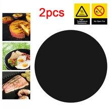 2/1 pçs 24cm * 0.12mm antiaderente pan frigideira almofada de alta temperatura pan forro evitar furar comida pot esteira cozinha ferramenta