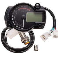 Waterproof 95mm Speedometer Speedos Gauge 199km/h With Backlight 999.9km Can be Reset 24 hour Real time Clock