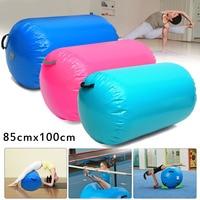 85x100cm Inflatable Custom PVC Gymnastics Gym Air Mat Floor Home Gymnastics Exercise Inflatable Air Round Column Tumbling Mat