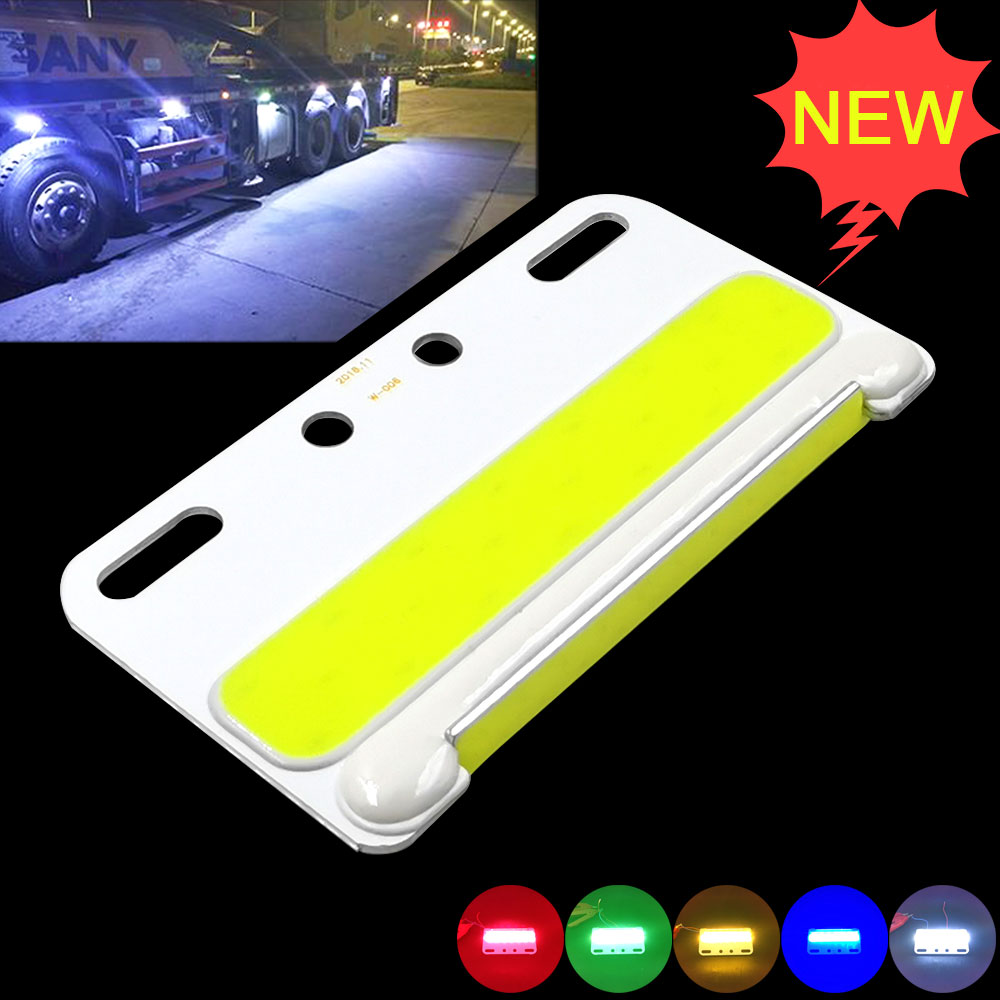 New Arrival Truck Light COB Signal Lamp 24V LED Lighting For Truck Turning Strobe Lamps Lorry Decorative Bulb Waterproof 5 Color