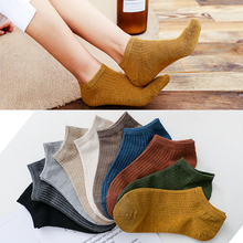 Fashion Casual Cotton Women Socks High Quality Striped 2019 New Girls Ankle Funny