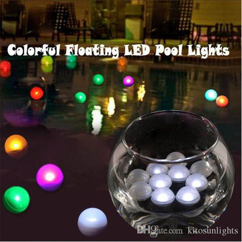 New12pcs/bag Multicolor Water Floating Fading Light LED Fairy Pearl For Wedding Decoration/LED Balloon Light,LED Light For Paper
