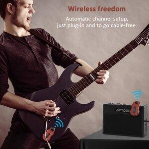 Image 5 - ammoon Wireless Guitar System Audio Digital Guitar Transmitter Receiver Built in Battery 300 Feet Transmission Range