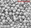 DoreenBeads 300 Серебряный тон гофрированные разделительные бусины 4 мм (B13769), иу - фото
