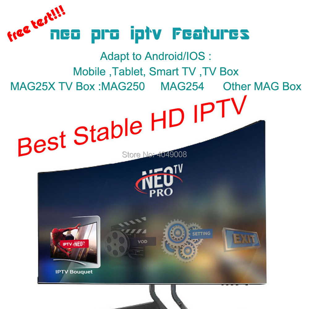 TV BOX Android NEO TV PRO Iptv Subscription Europe France Arabic Italian Belgium Spanish IPTV Code 1800 Channel 2000 Films VOD