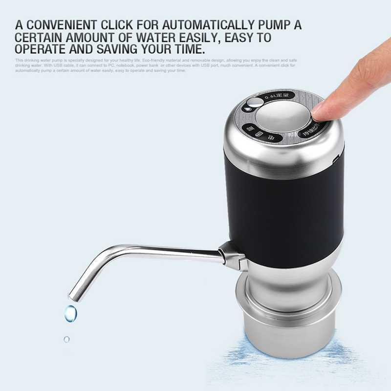 Горячая Распродажа беспроводной электрический насос автоматическая бутылка для воды Smart диспенсер с Usb перезаряжаемые электрический батарея питьевой воды B