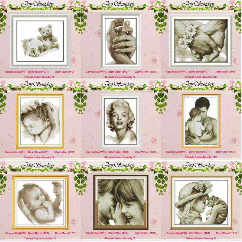 Angel Baby Girl Lover counted Cross Stitch 11CT 14CT Cross Stitch Set Wholesale DIY Cross-stitch Kit Embroidery Needlework