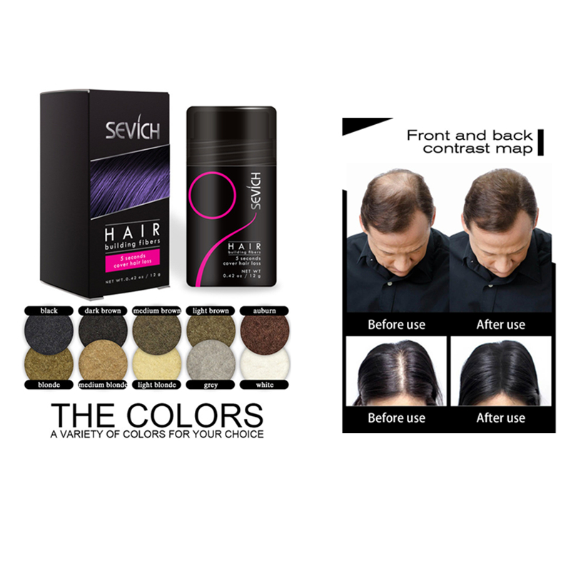 New Arrival 12g Hair Building Fibers Keratin Thicker Hair Sprays Salon Beauty For Men
