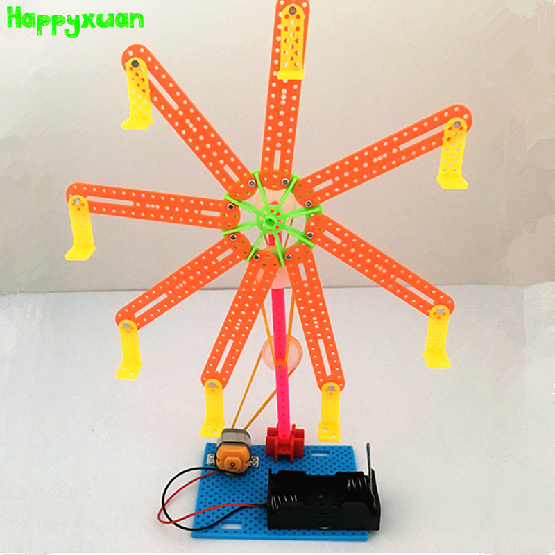 Happyxuan Assemble DIY Ferris Wheel Kids Science Projects Experiment Kits Boy Toy Invention 2018 Innovation Creative Education