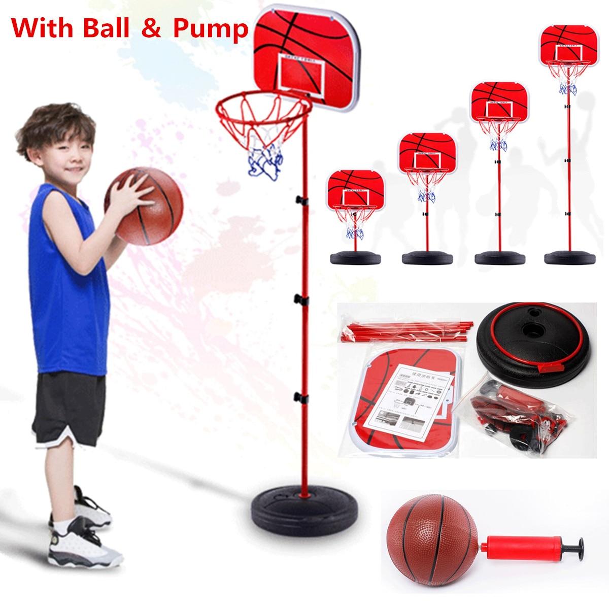 Basketball Hoop Set Adjustable Height Activity Sport Game Toy Basketball Stand Goal Holder Rack For Kids Child Fitness Equipment