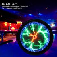 Мини карман плазмы Свет Звук-ответ светодиодный освещающая пластина диск Главная Disco вечерние Show Декор