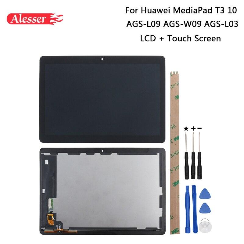 Alesser Pour Huawei MediaPad T3 10 AGS-L09 AGS-W09 AGS-L03 écran lcd + écran tactile + Outils + Adhésif Pour Huawei MediaPad T3 10
