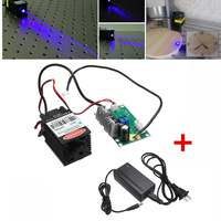 2000mW 2W 445nm 450nm focusable blue Laser Module Laser Engraver part DIY Laser Head with TTL Power Adapter